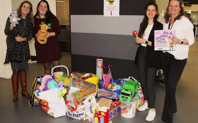 Collecting toys for children
